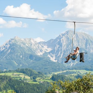 The nostalgic one-person chairlift takes guest onto Adventure Mountain.